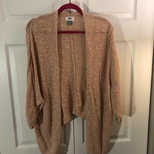 Blush Boucle Open Front 3/4 sleeve Cardigan